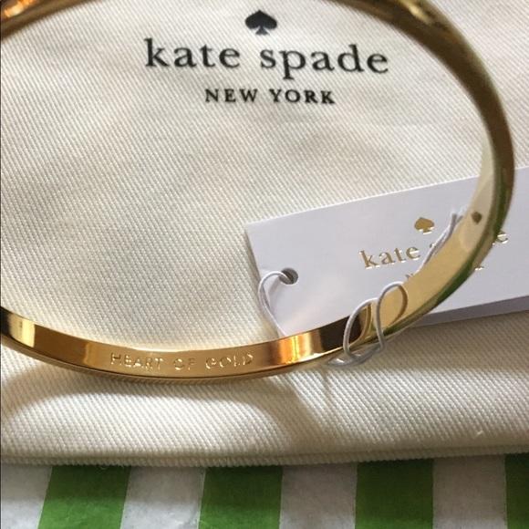 fd874dea316fd Kate Spade Heart of Gold Idiom Bangle NWT